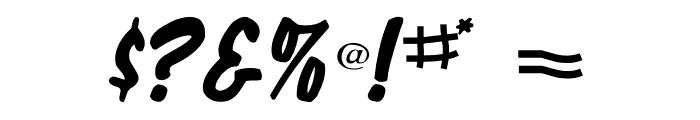 Shelman Regular Font OTHER CHARS
