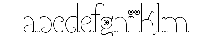 Shicoo Font LOWERCASE