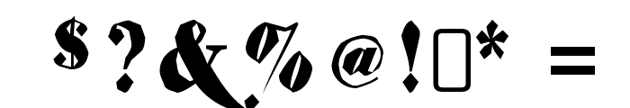 ShiftyChicaTwo-Regular Font OTHER CHARS