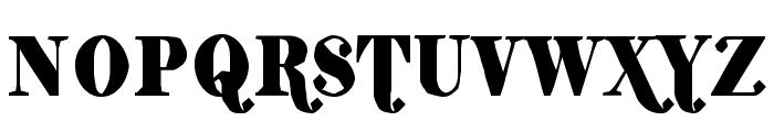 ShiftyChicaTwo-Regular Font UPPERCASE