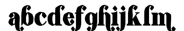 ShiftyChicaTwo-Regular Font LOWERCASE