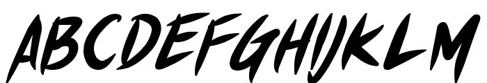 Shin Akiba Punx Bold Italic Font UPPERCASE