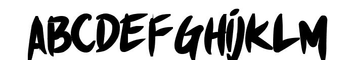 Shin Akiba punx Bold Font LOWERCASE