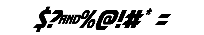 Shining Herald Condensed Italic Font OTHER CHARS