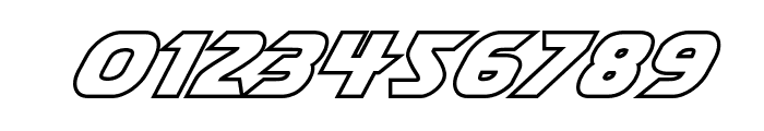 Shining Herald Outline Italic Font OTHER CHARS