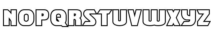 Shining Herald Outline Regular Font LOWERCASE