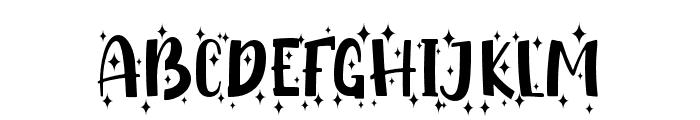 Shiny Unicorn Display - Personal Use Font UPPERCASE