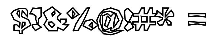 ShlockoBlockoOutline Font OTHER CHARS