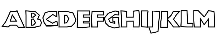 ShlockoBlockoOutline Font UPPERCASE