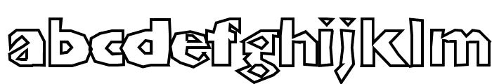 ShlockoBlockoOutline Font LOWERCASE