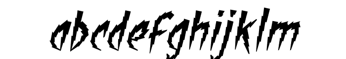 ShockTherapy BB Italic Font LOWERCASE