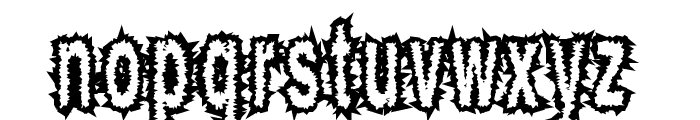ShockThick Font LOWERCASE