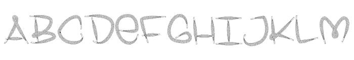 Shoelace FontRegular Font UPPERCASE