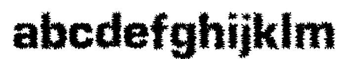 Shokkking Black Font LOWERCASE