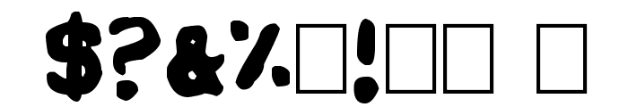 Sholes & Glidden Font OTHER CHARS