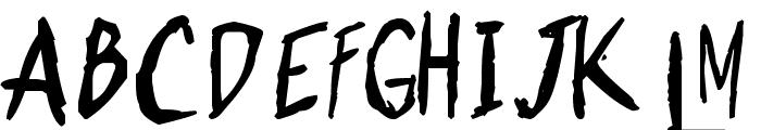 Shonen Punk! Custom Bold Bold Font UPPERCASE