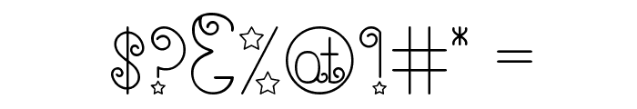 Shooting Stars Font OTHER CHARS