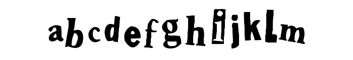Shoplifter Font LOWERCASE