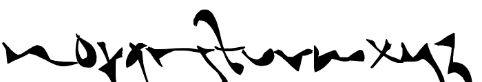 Shortbrush Font LOWERCASE