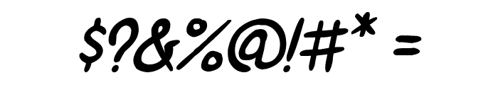 ShoujoPop!-BoldItalic Font OTHER CHARS