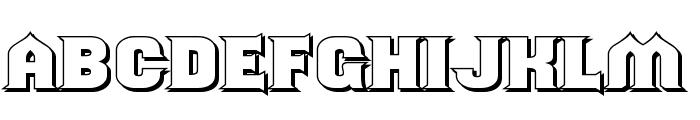 ShouldveKnownShaded-Regular Font LOWERCASE