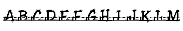 ShowLetters_Action Font LOWERCASE