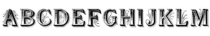 Showboat Regular Font UPPERCASE