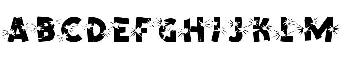 Shrapnel Font LOWERCASE