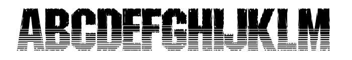 Shredded Ventilated Font UPPERCASE