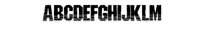 Shredded Ventilated Font LOWERCASE