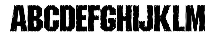 Shredded Font UPPERCASE