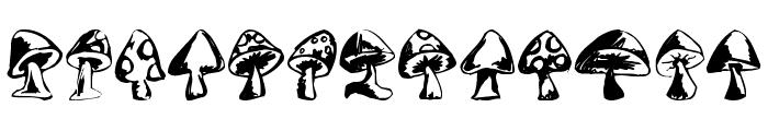 Shrooms Font UPPERCASE