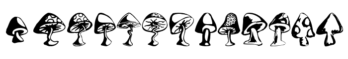 Shrooms Font LOWERCASE