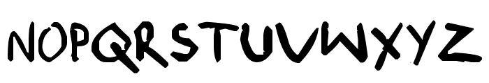 shonen punk! custom Font UPPERCASE