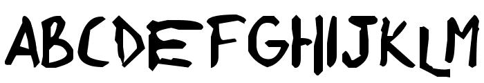 shonen punk! custom Font LOWERCASE