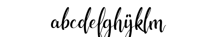 shunligh Personal Use Only Font LOWERCASE