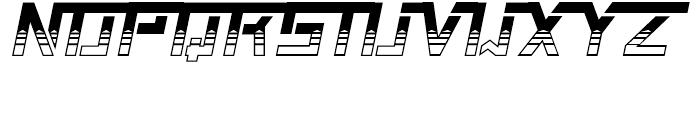 Shameless Decorative Italic Font UPPERCASE