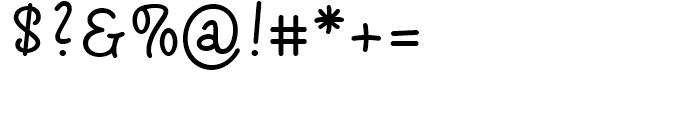 Sharpy Regular Font OTHER CHARS