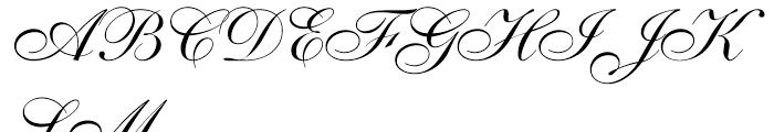 Shelley Script Allegro Font UPPERCASE