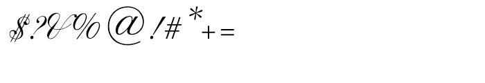 Shelley Script Cyrillic Regular Font OTHER CHARS