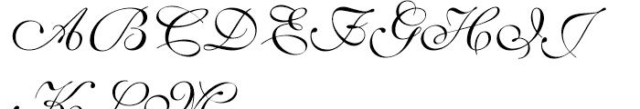Shelley Script Volante Font UPPERCASE