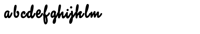 Sherbet BF Regular Font LOWERCASE