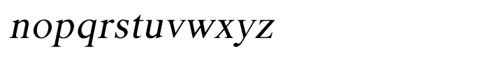 Shree Gujarati 0750 Italic Font LOWERCASE