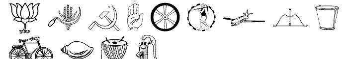 Shree Symbol 2155 Regular Font UPPERCASE