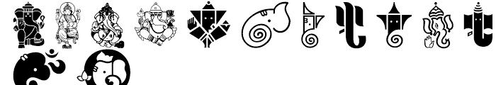 Shree Symbol 2160 Regular Font UPPERCASE