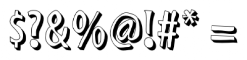 Shaky Hand Some Comic 3D Font OTHER CHARS