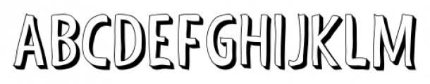 Shaky Hand Some Comic 3D Font UPPERCASE