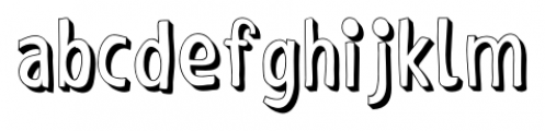Shaky Hand Some Comic 3D Font LOWERCASE