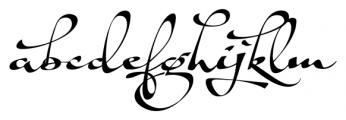 Shapely Regular Font LOWERCASE