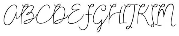 Shartica Script Regular Font UPPERCASE